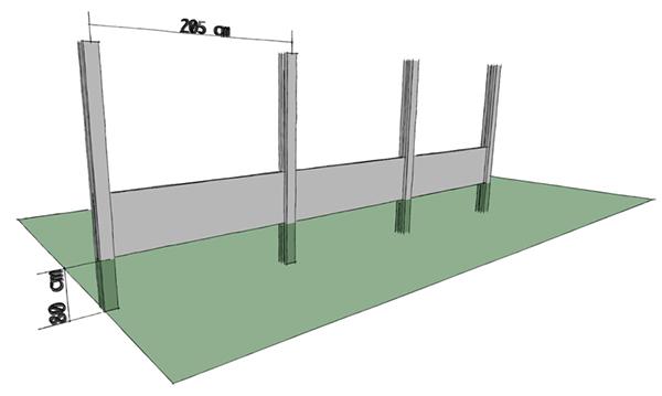 Stavba betonoveho plotu